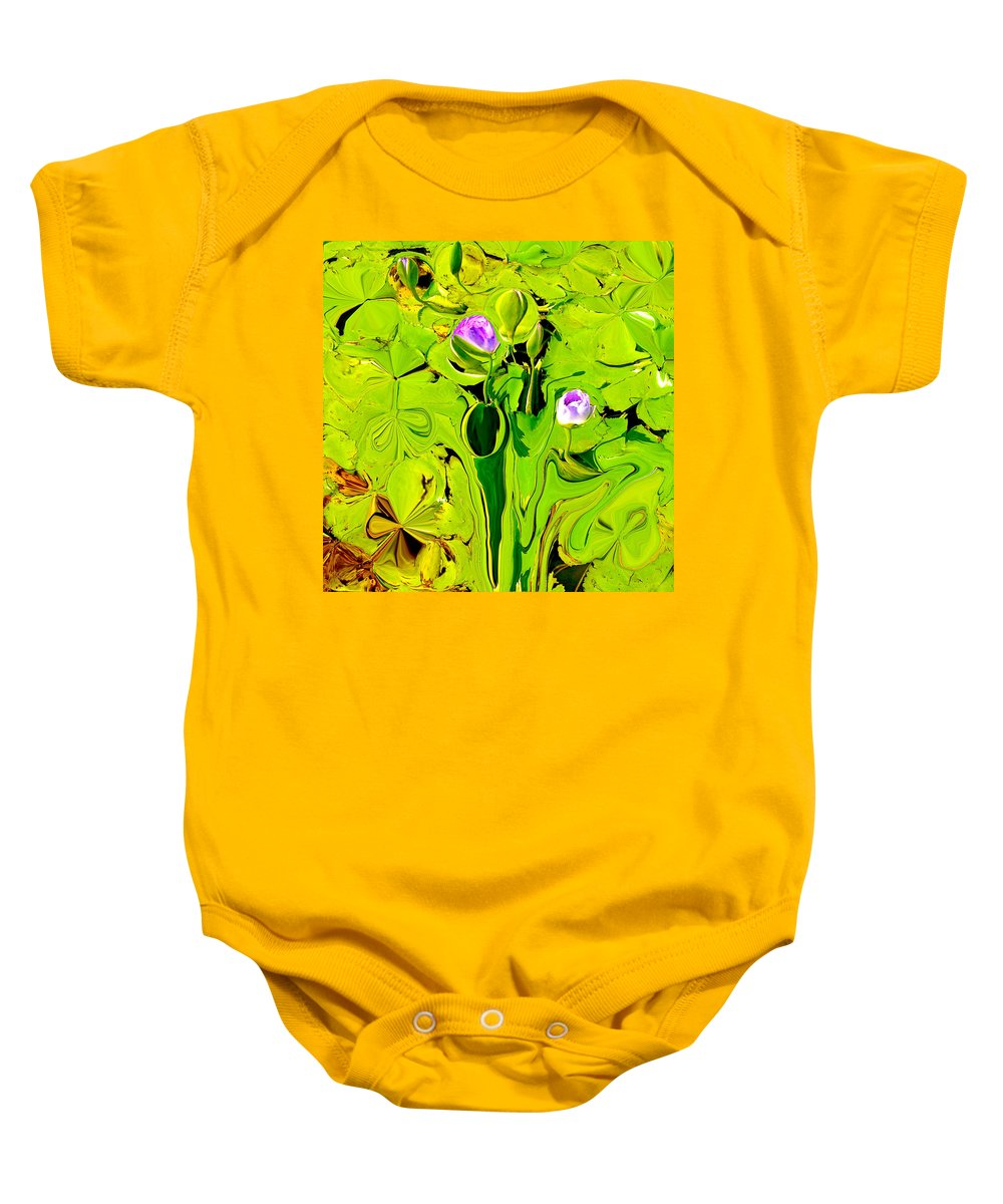 Lotus Flowers Baby Onesie featuring the photograph Green Fluidity by Anthony Robinson