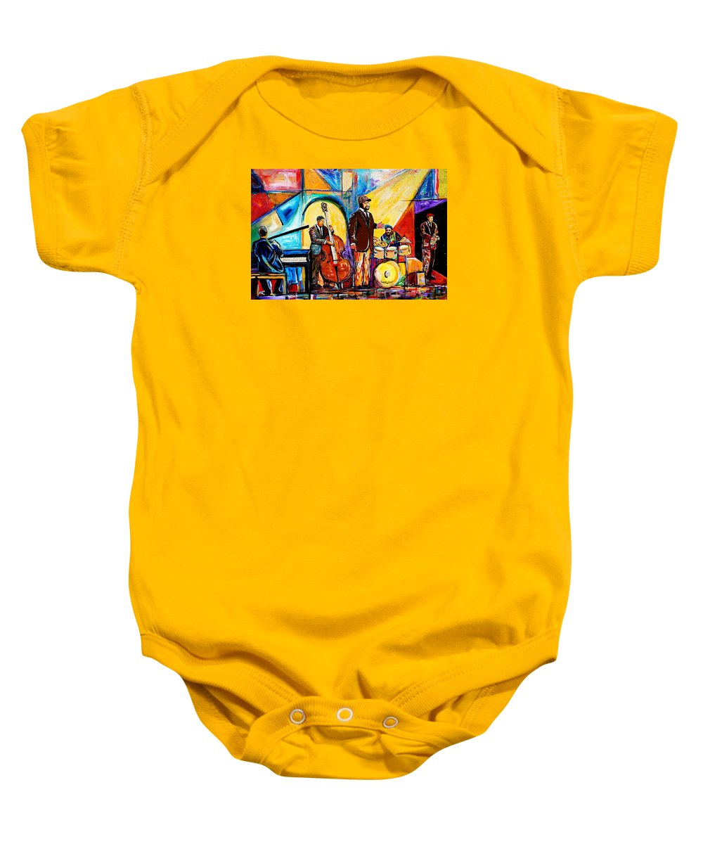 d19c21bbb Everett Spruill Baby Onesie featuring the painting Gregory Porter And Band  by Everett Spruill