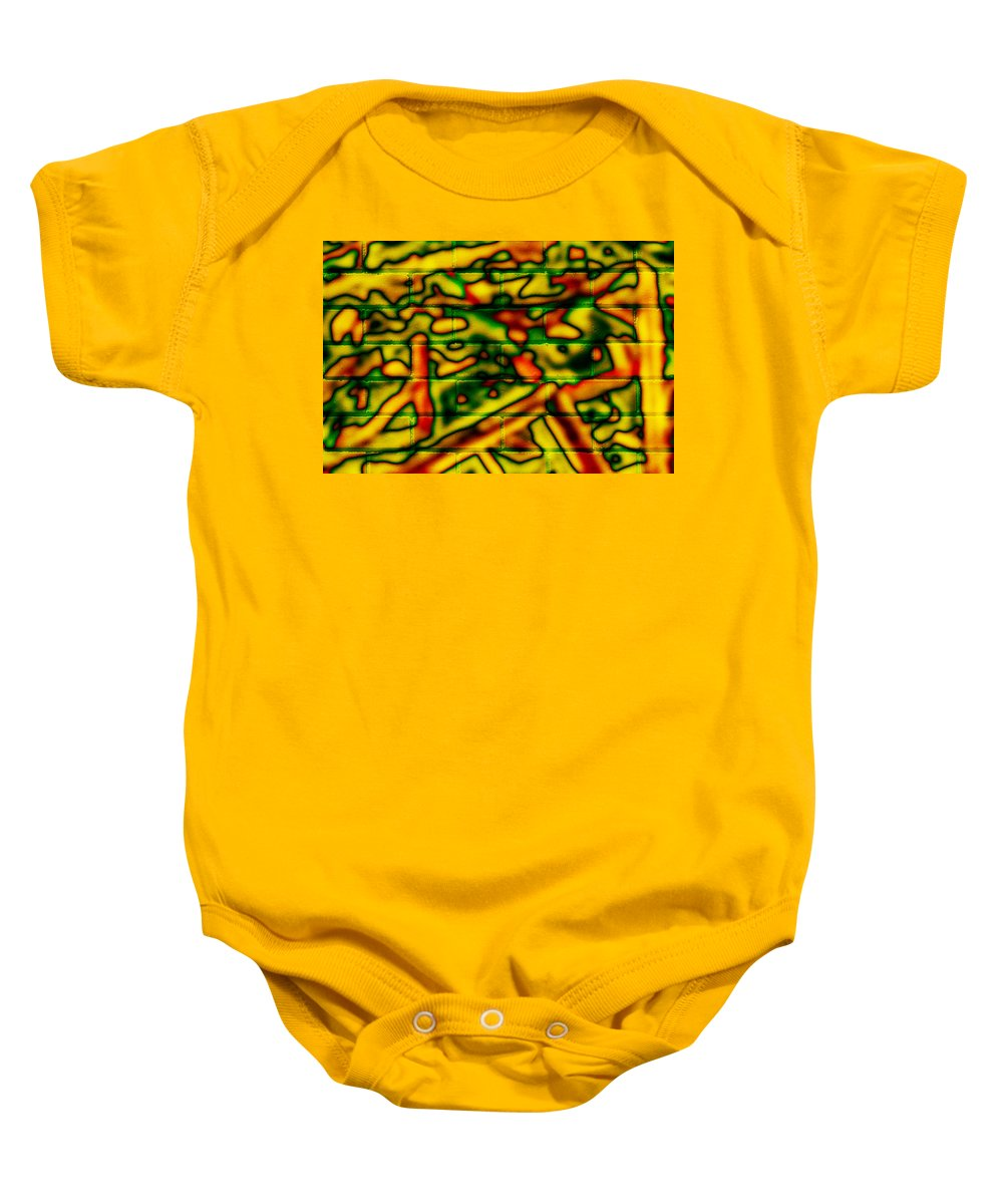 Digital Baby Onesie featuring the photograph Grunge Graffiti by Phill Petrovic