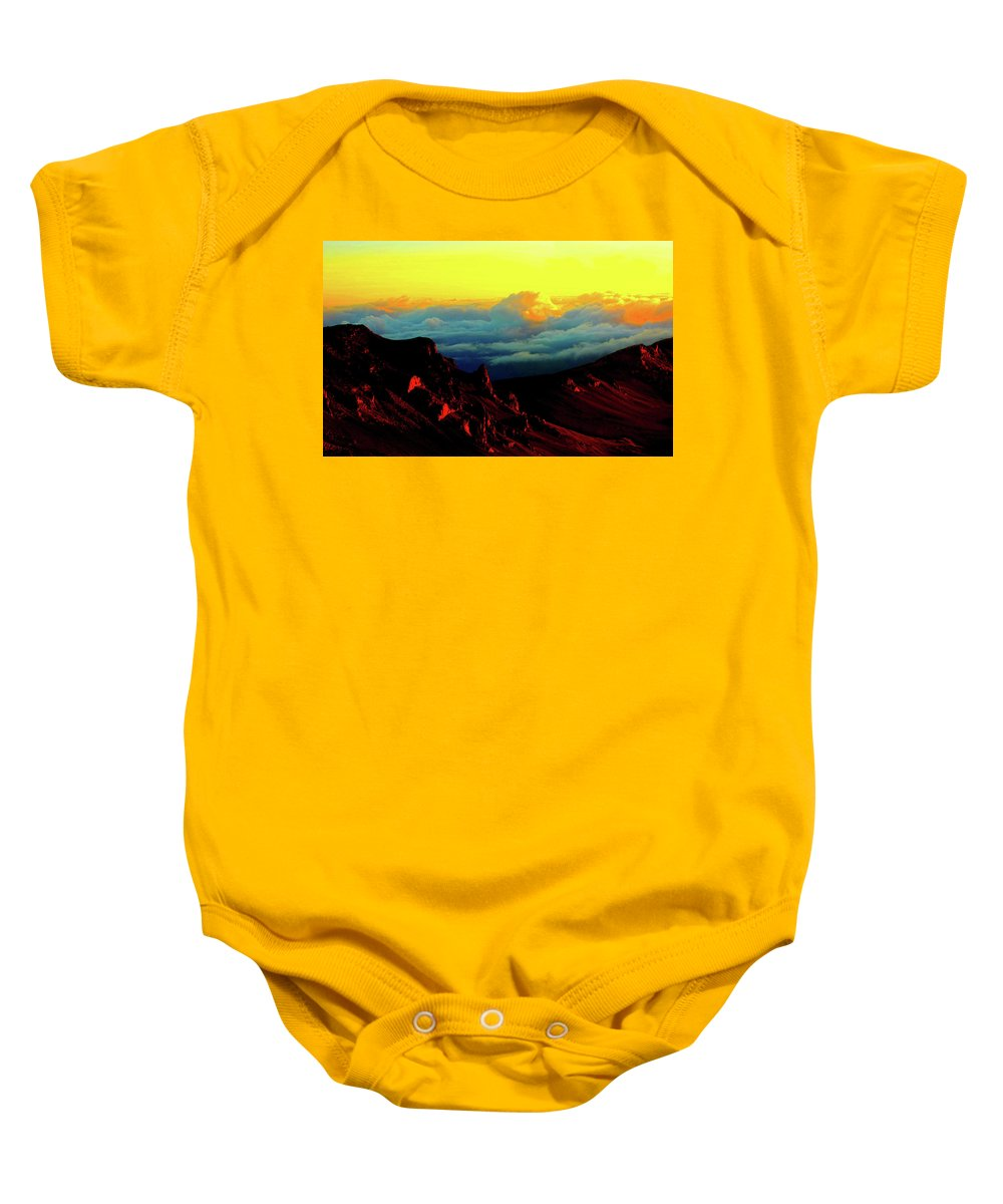 Clouds Baby Onesie featuring the photograph Halekala Sunrise by Stephen Edwards