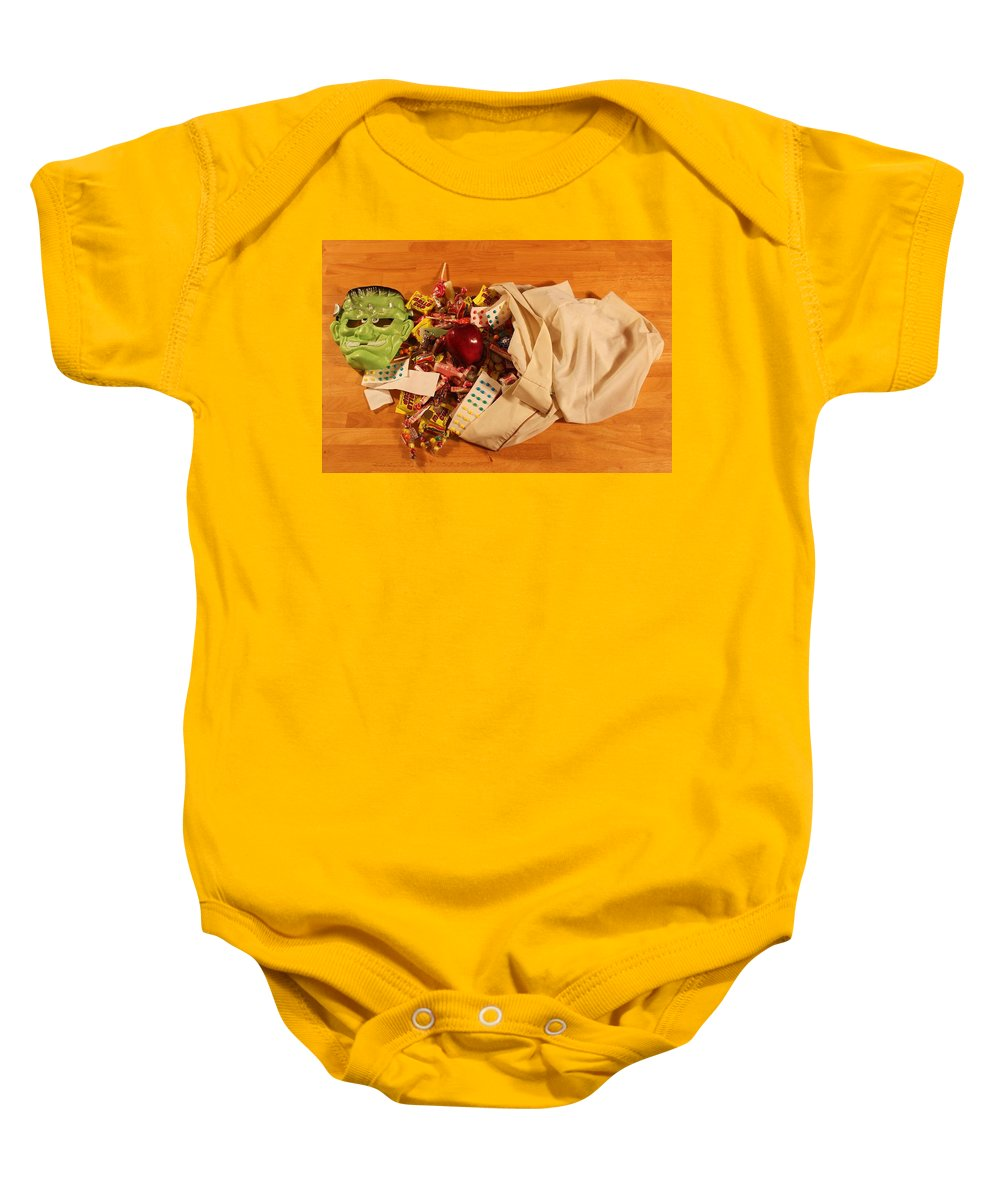 Photo For Sale Baby Onesie featuring the photograph Halloween Haul by Robert Wilder Jr