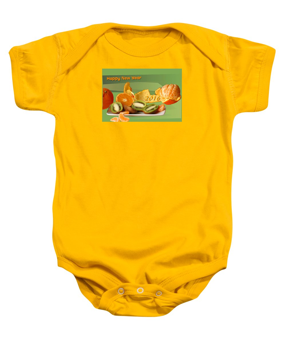 Greetings Baby Onesie featuring the photograph Happy New Year 2016 by Guido Strambio