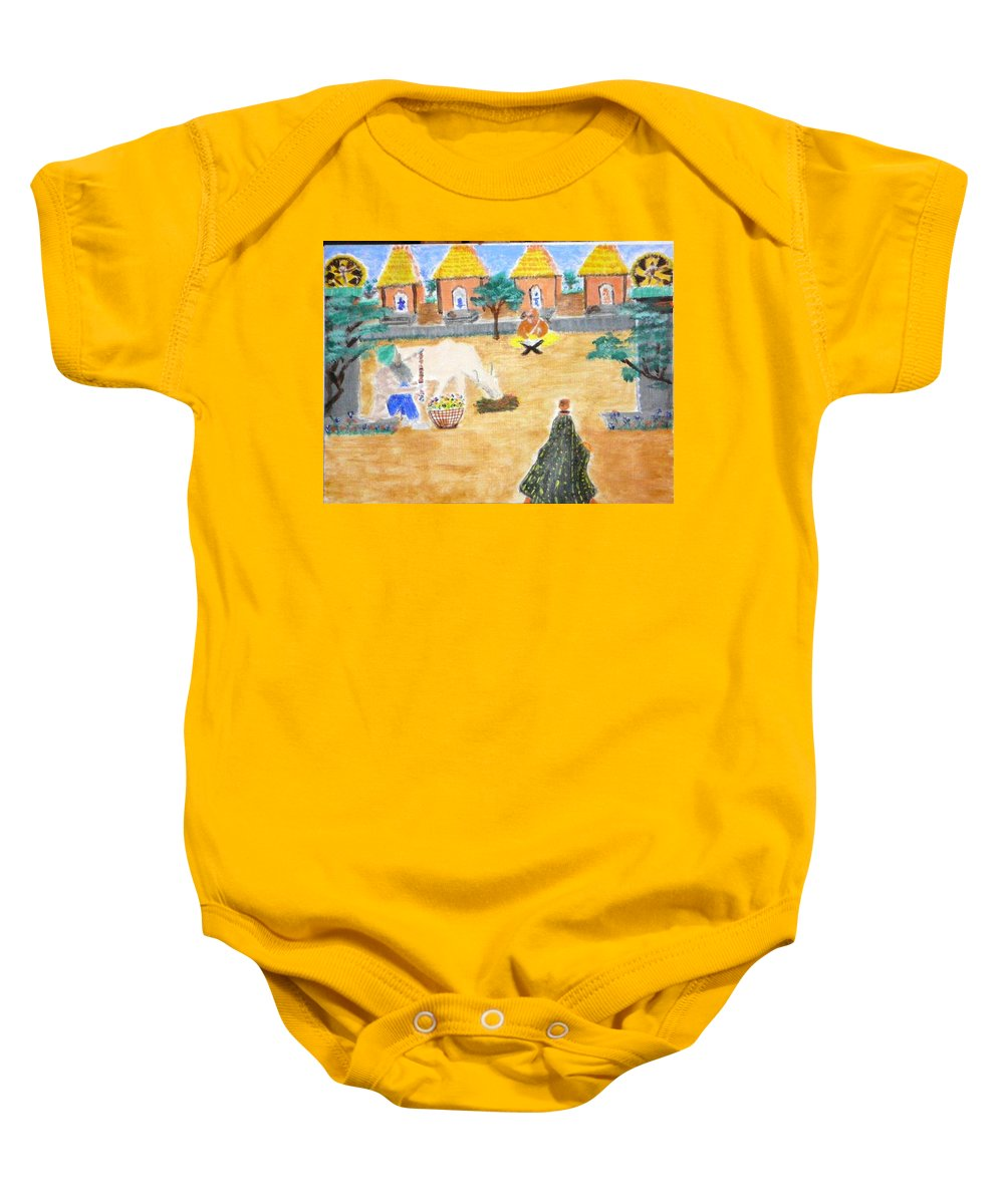 Baby Onesie featuring the painting Harmony by R B