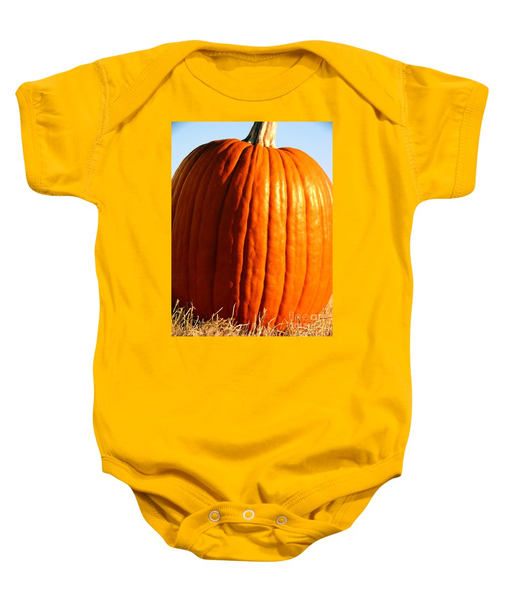 Pumpkin Baby Onesie featuring the photograph Harvest by Amanda Barcon