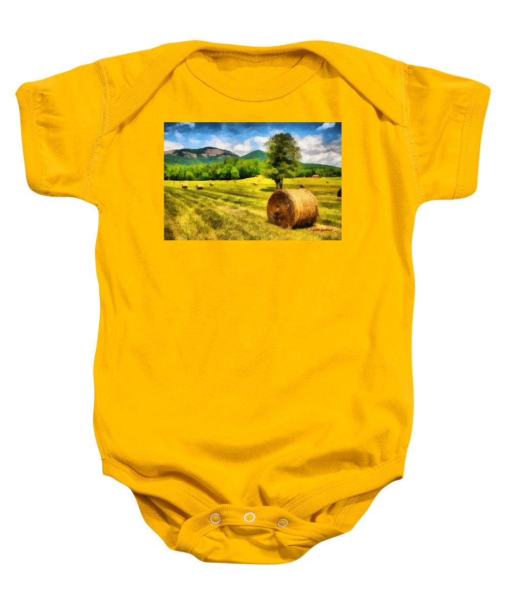 Harvest Baby Onesie featuring the painting Harvest At Table Rock by Lynne Jenkins