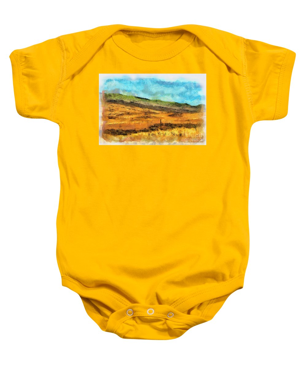 Photograph Baby Onesie featuring the photograph Hawaiian Pasture by Paulette B Wright