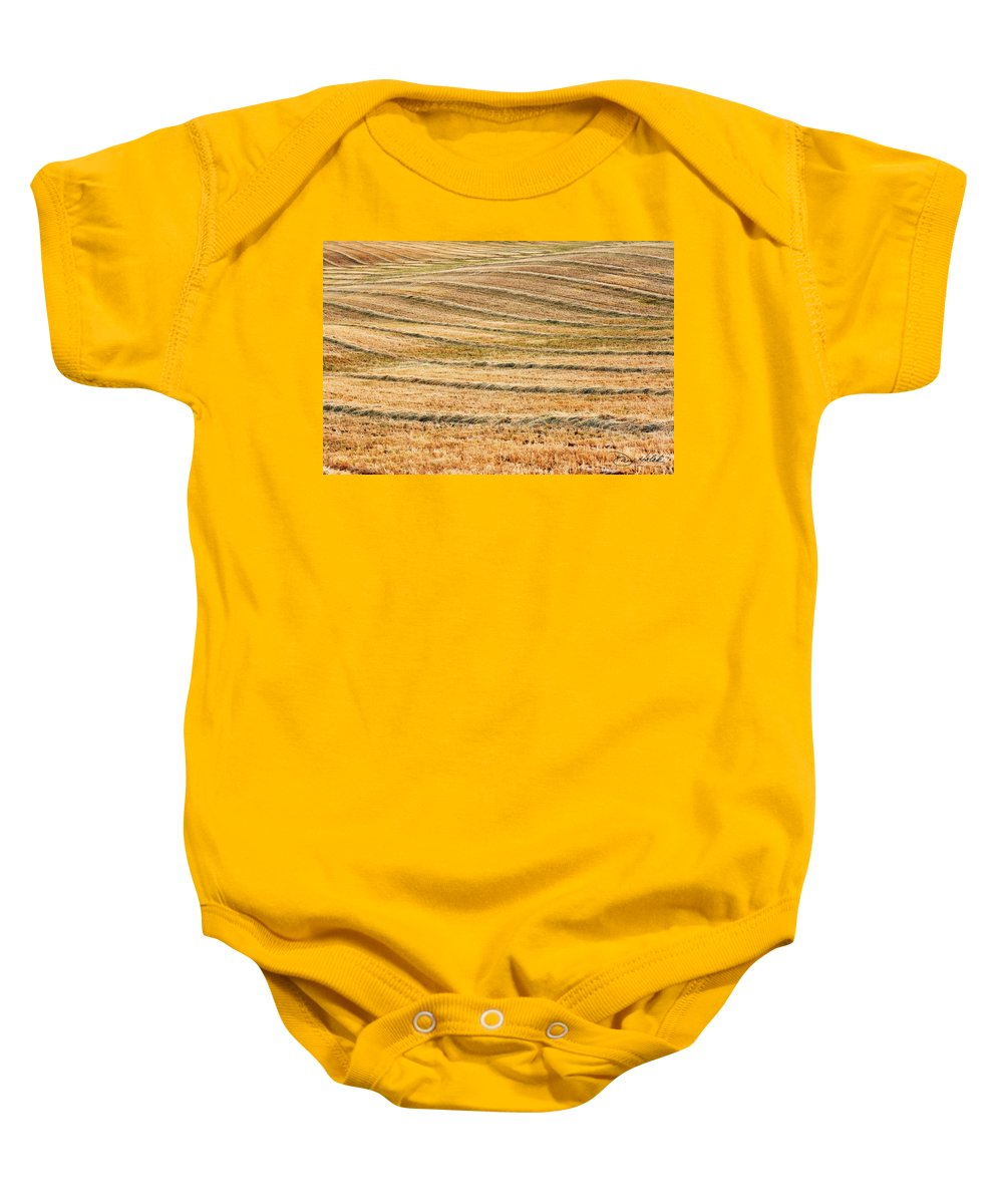 San Joaquin Valley Baby Onesie featuring the photograph Hay Billows by Doug Holck
