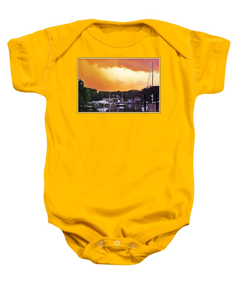 2d Baby Onesie featuring the photograph Head For Safety by Brian Wallace