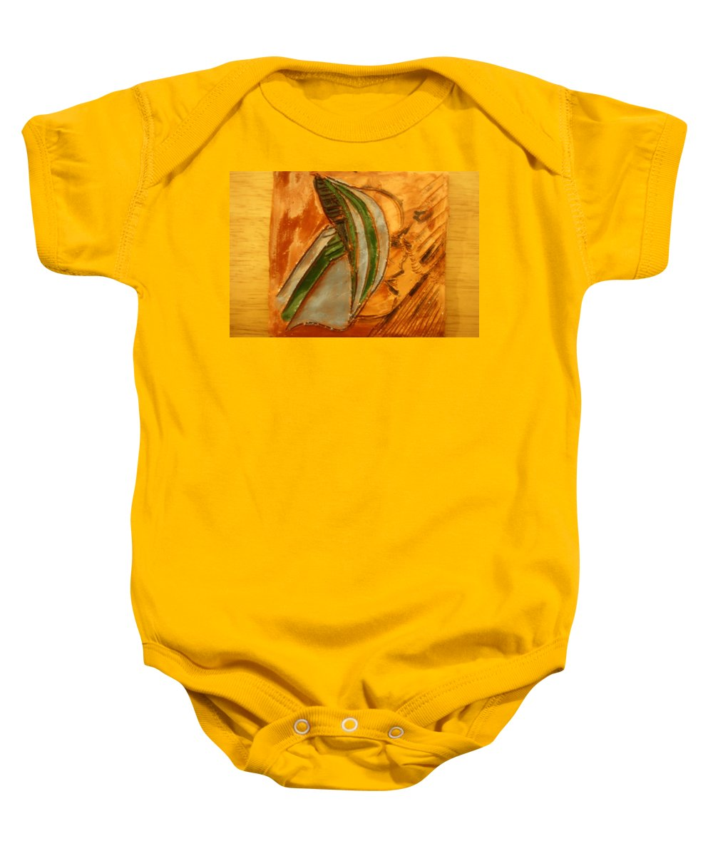 Jesus Baby Onesie featuring the photograph Headstrong - Tile by Gloria Ssali