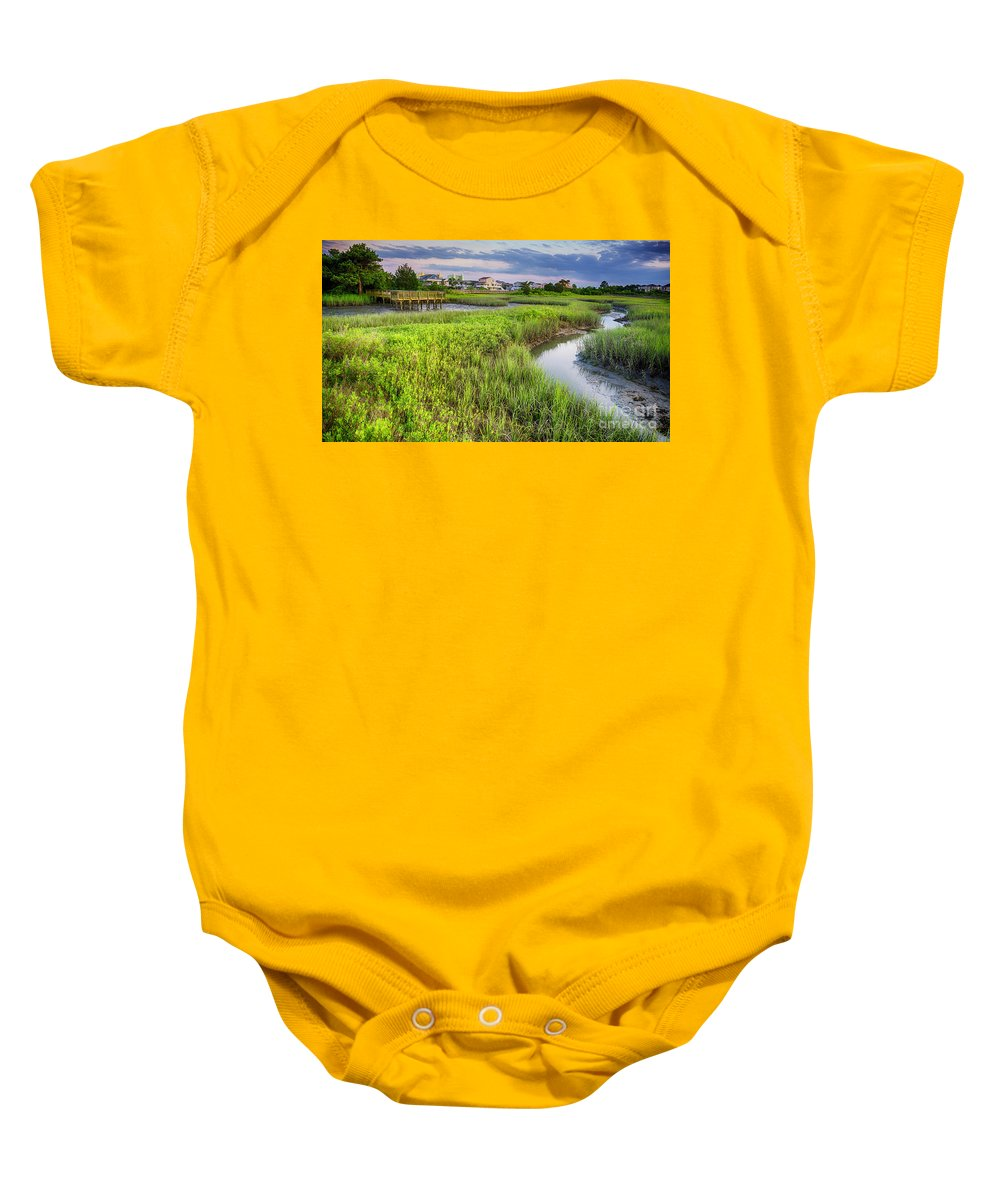 Nature Baby Onesie featuring the photograph Heritage Shores Nature Preserve by David Smith