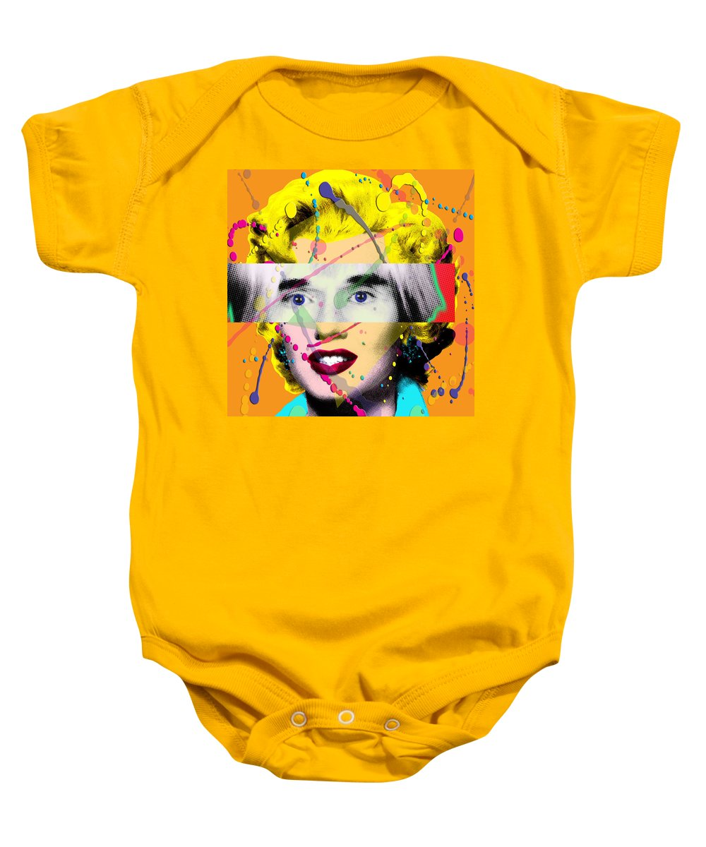Digital Baby Onesie featuring the painting Homage To Warhol by Gary Grayson