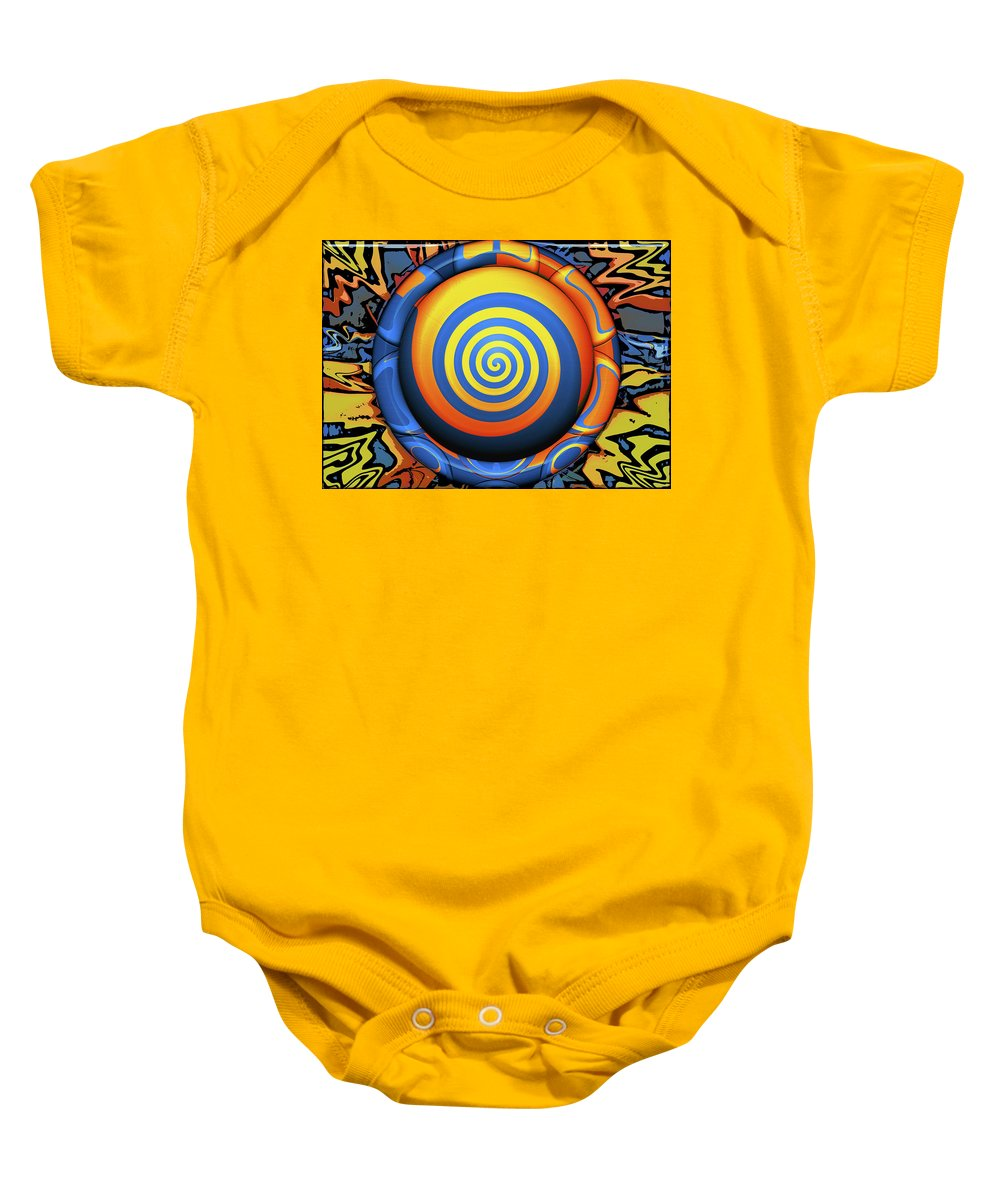 Abstract Baby Onesie featuring the digital art Hypnotrippery by Wendy J St Christopher