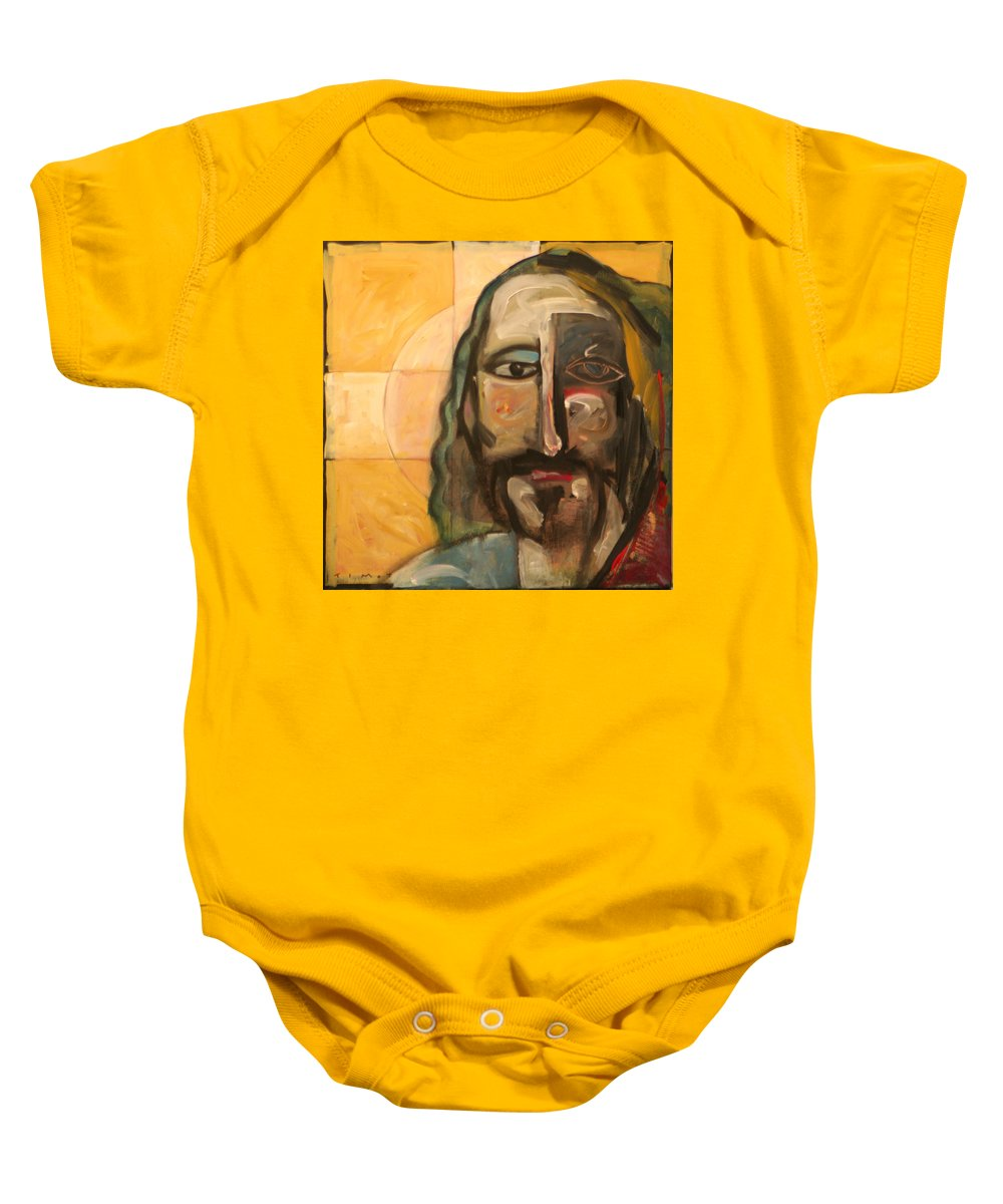 Christ Baby Onesie featuring the painting Icon Number Four by Tim Nyberg