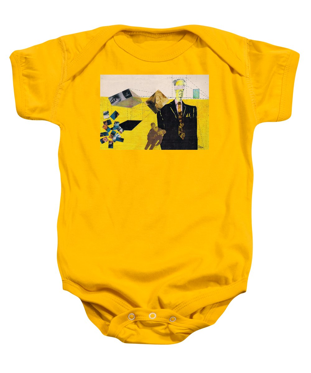 Idol Icon Conflict Lies Vicious Baby Onesie featuring the mixed media Idolatry by Veronica Jackson