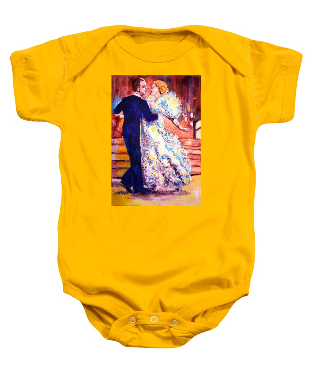 I'm In Heaven Baby Onesie featuring the painting I'm In Heaven by Seth Weaver