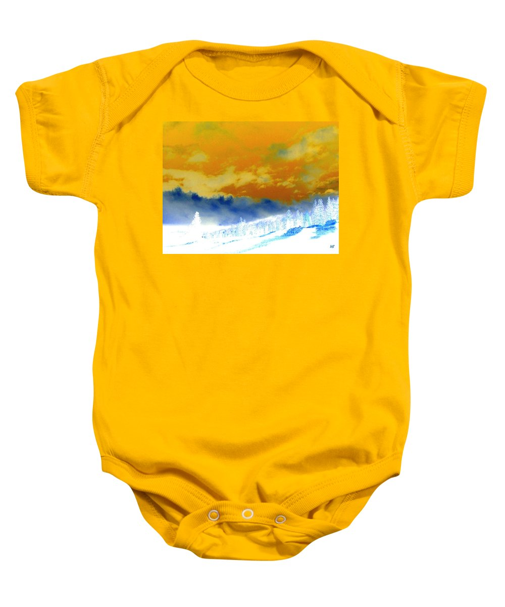 Impressions Baby Onesie featuring the digital art Impressions 2 by Will Borden