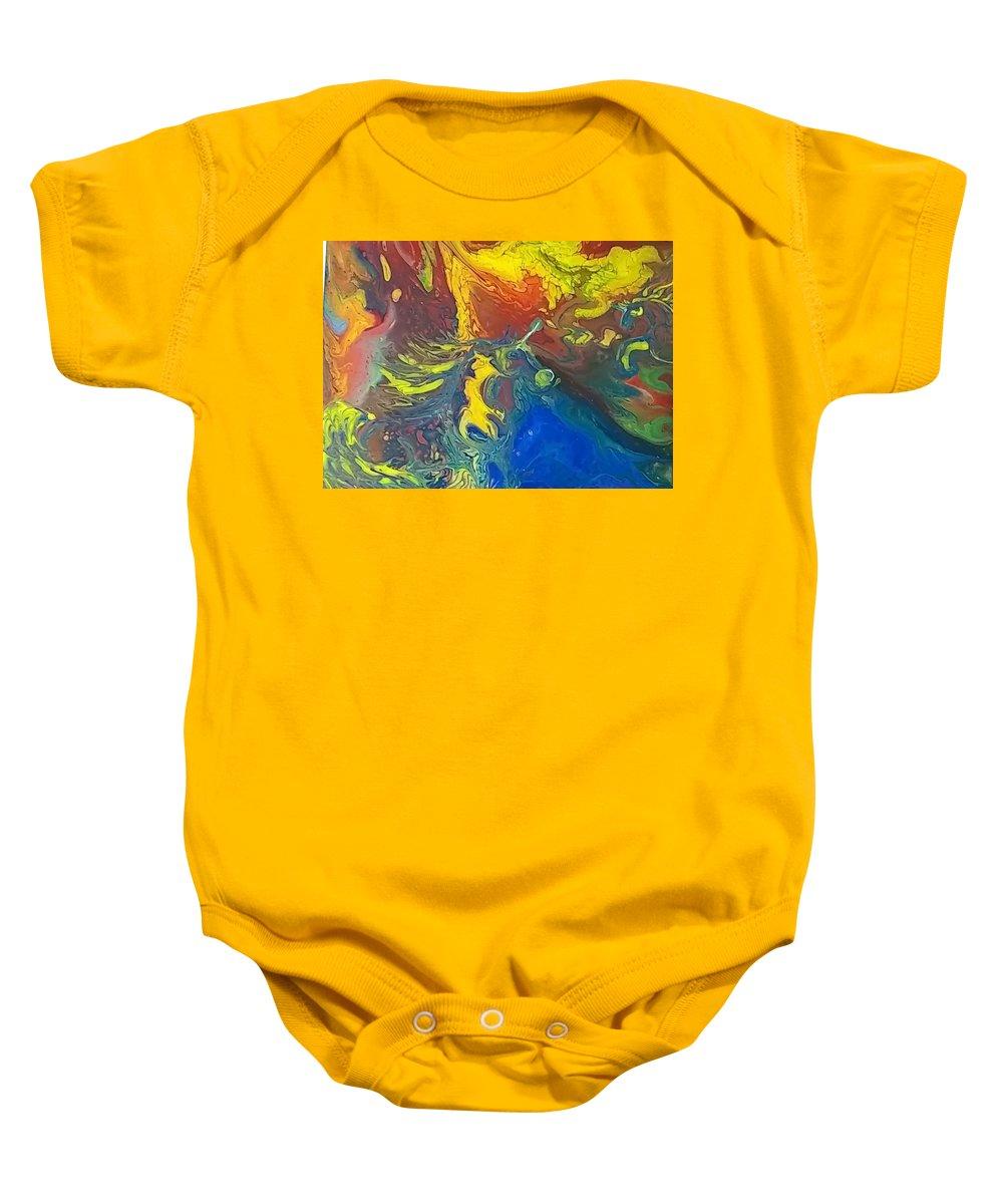 Baby Onesie featuring the painting In Dreams by Marcie Saunders