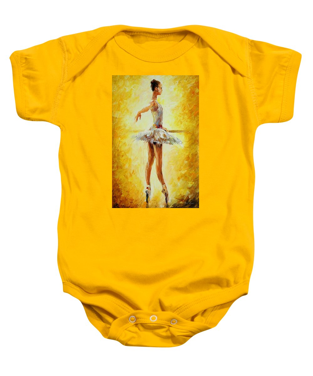 Afremov Baby Onesie featuring the painting In The Ballet Class by Leonid Afremov