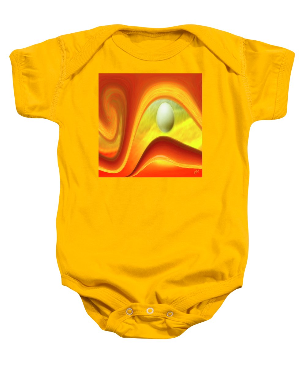 In The Beginning Baby Onesie featuring the digital art In The Beginning by Ben and Raisa Gertsberg