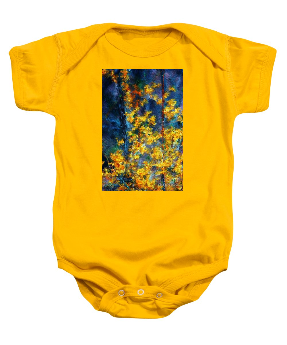 Nature Baby Onesie featuring the photograph In The Woods Again by David Lane