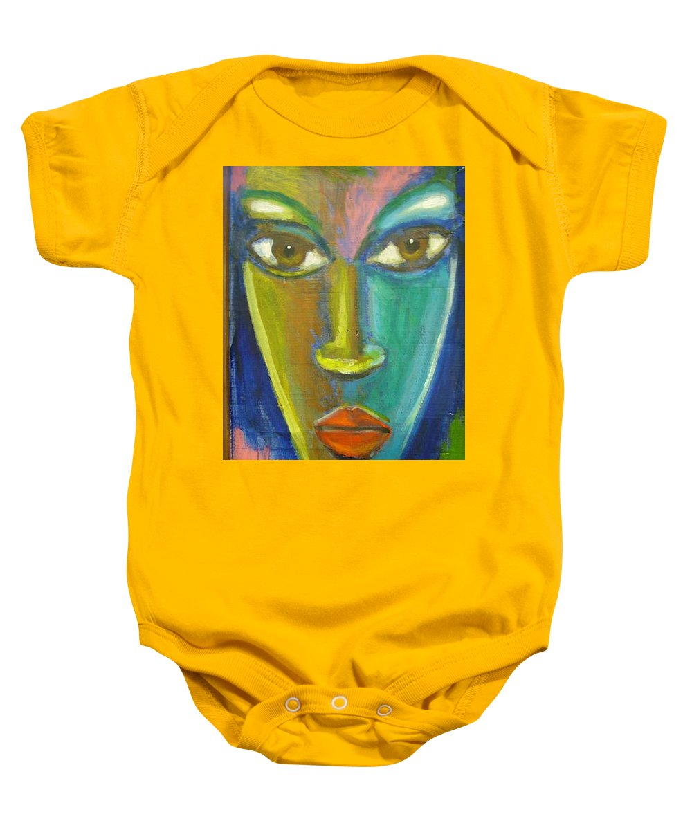Painting Baby Onesie featuring the painting Intensity by Jan Gilmore
