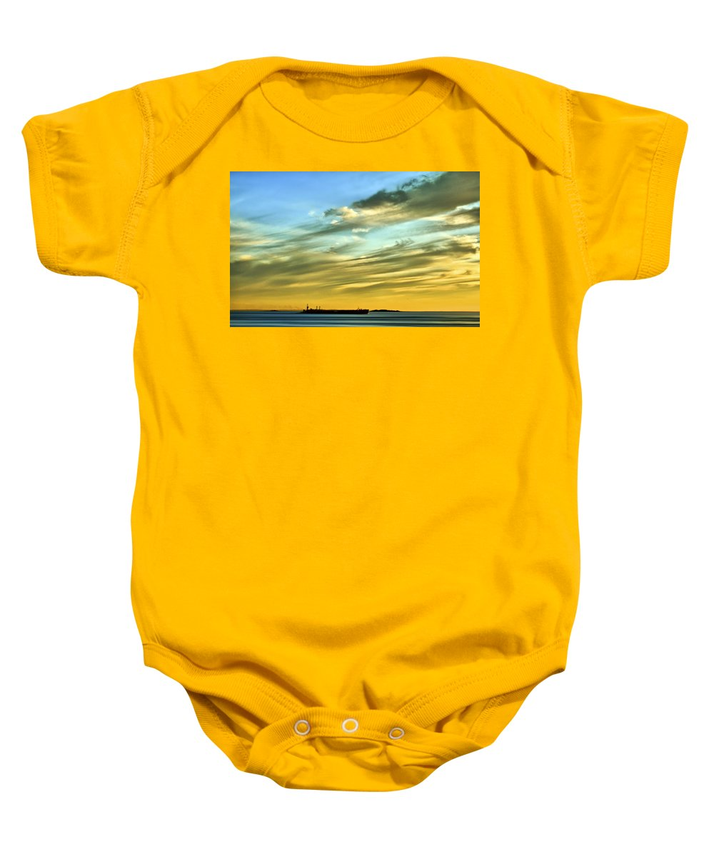 Sunset Baby Onesie featuring the photograph Into The Sunset by Evelina Kremsdorf