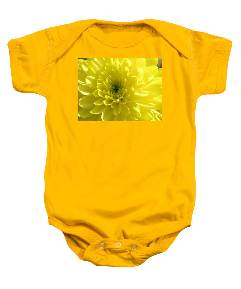 Nature Baby Onesie featuring the photograph Yellow Luminosity by Shannon Turek