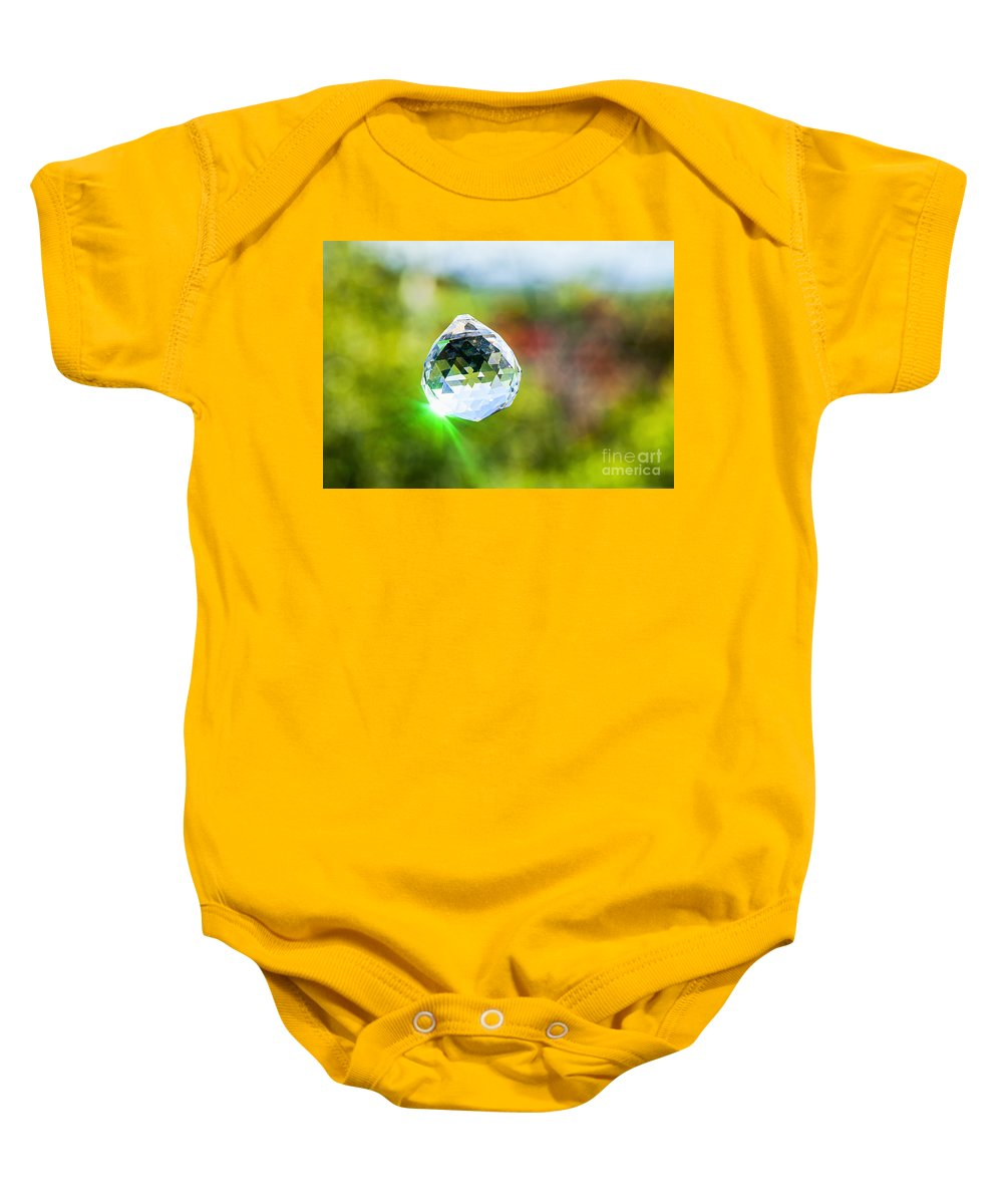 Freshness Baby Onesie featuring the photograph Jewel Hanging Outdoors by Eyal Fischer