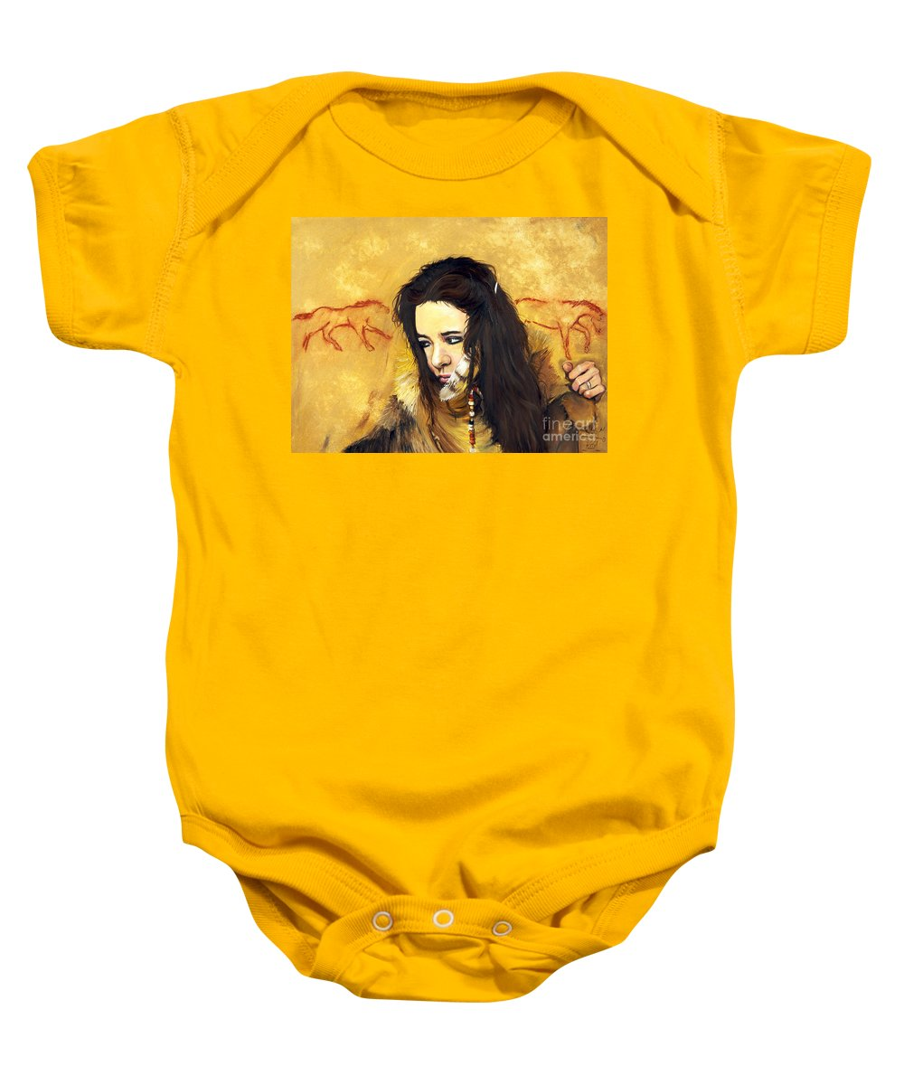 Southwest Art Baby Onesie featuring the painting Journey by J W Baker