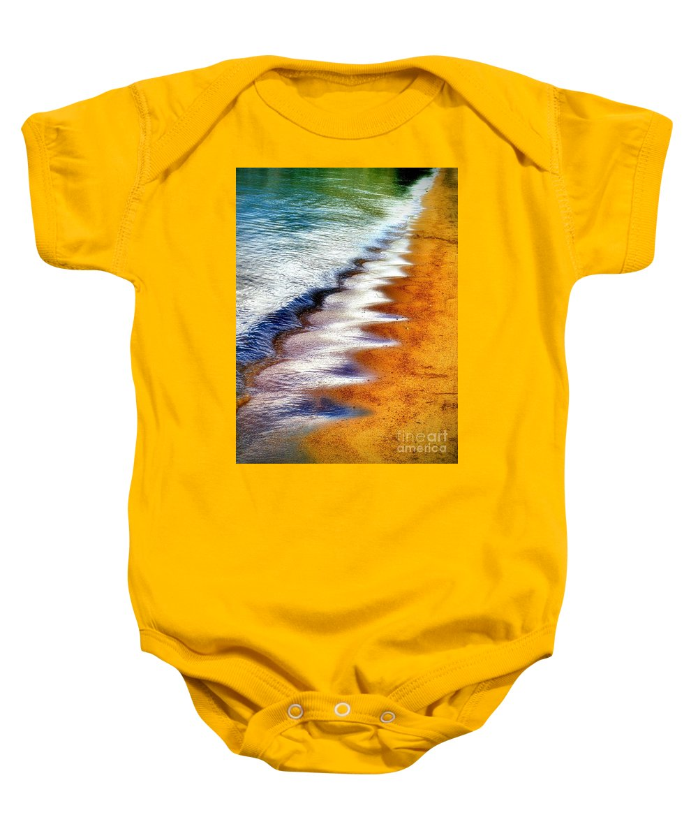 Waves Baby Onesie featuring the photograph July 3 2010 by Tara Turner