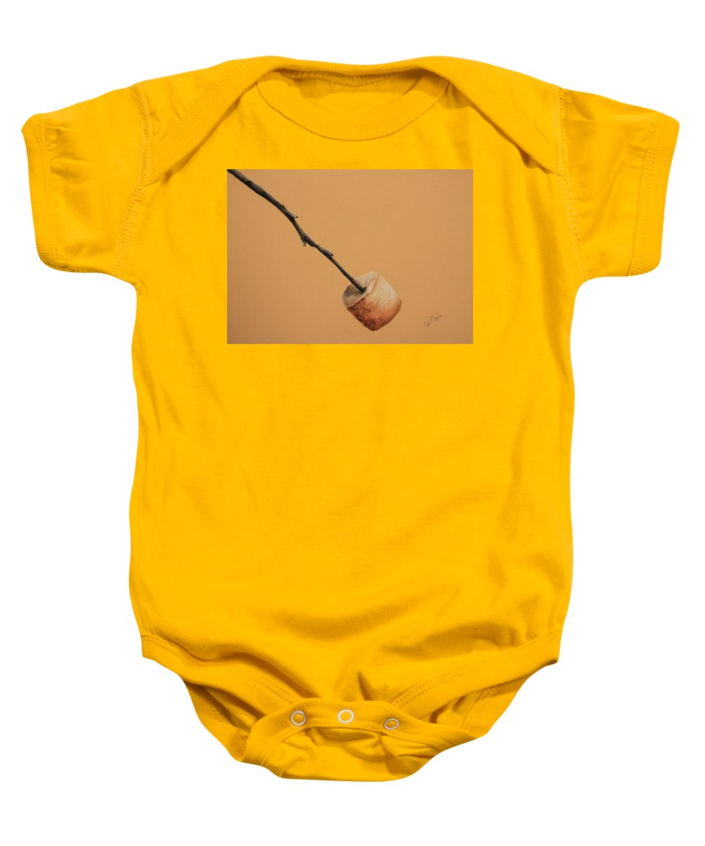 Marshmallow Baby Onesie featuring the painting Just The Way I Like It by Joi Electa