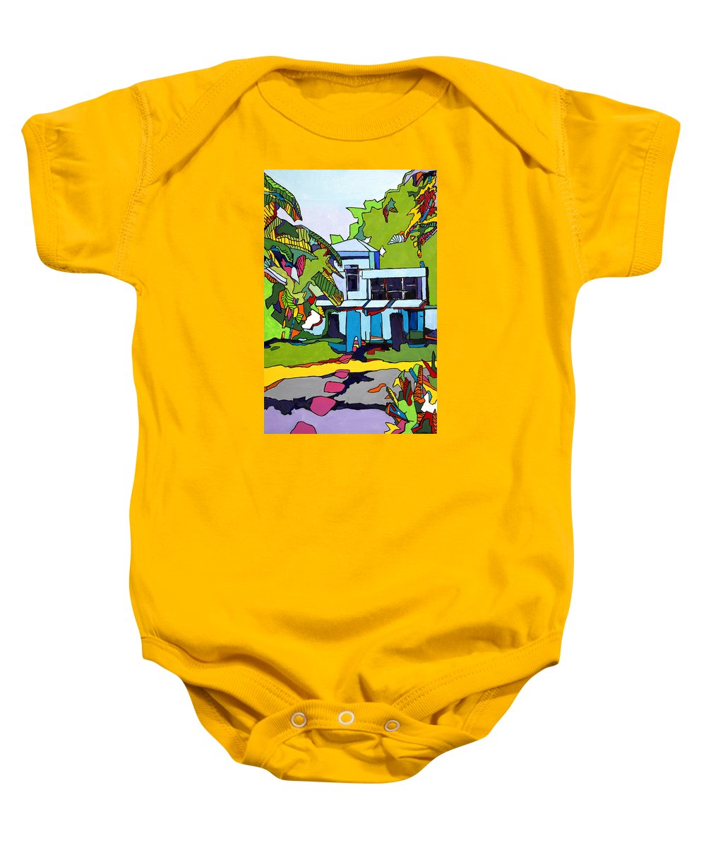 Landscape Baby Onesie featuring the painting Key Largo by Robert Cawein