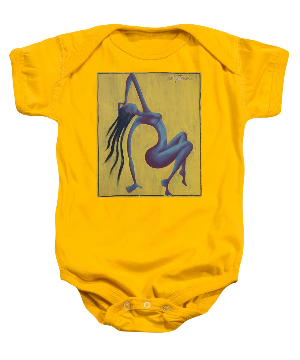 Egypt Baby Onesie featuring the painting Lady Egypt by Kelly Jade King