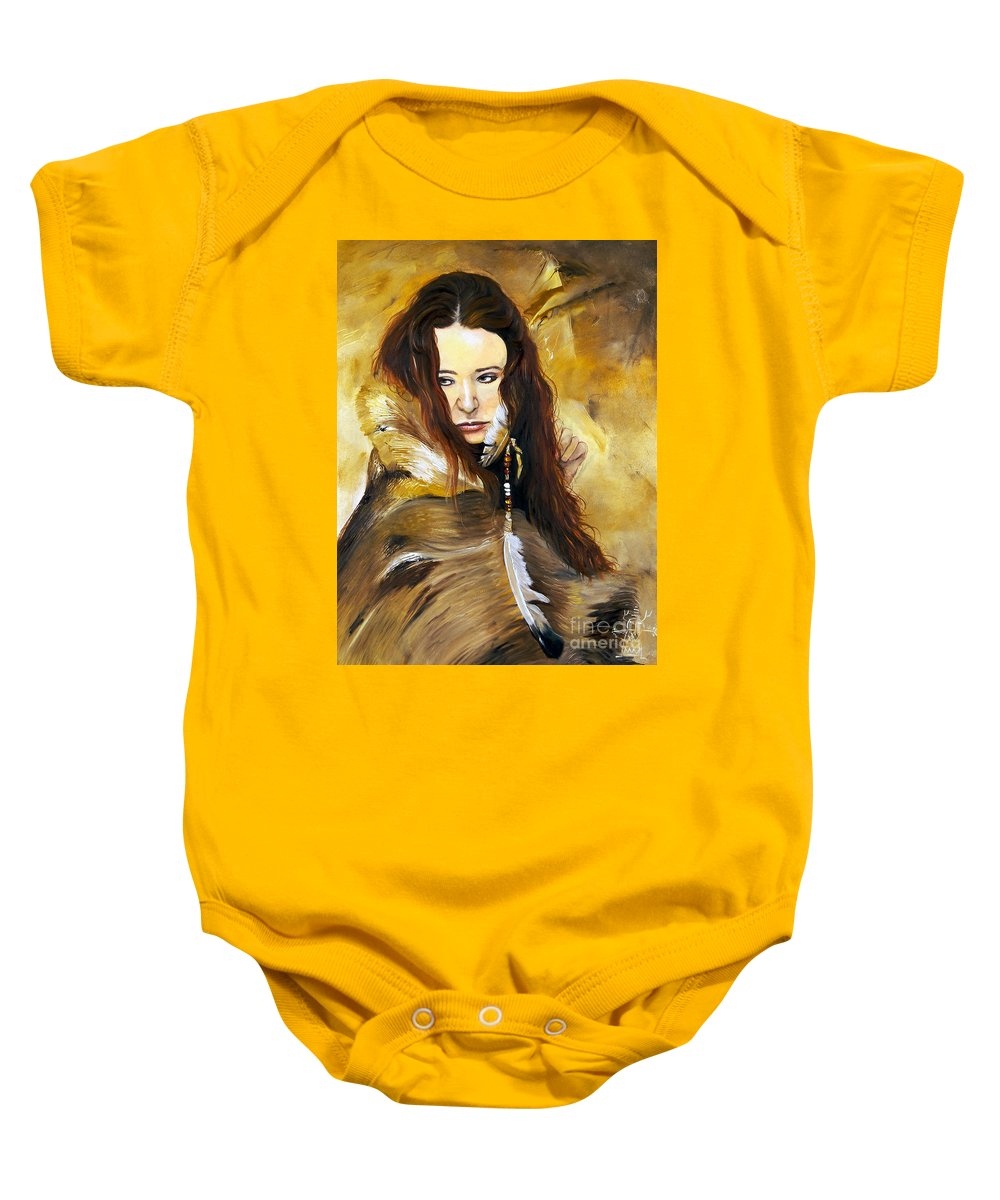Southwest Art Baby Onesie featuring the painting Lament by J W Baker