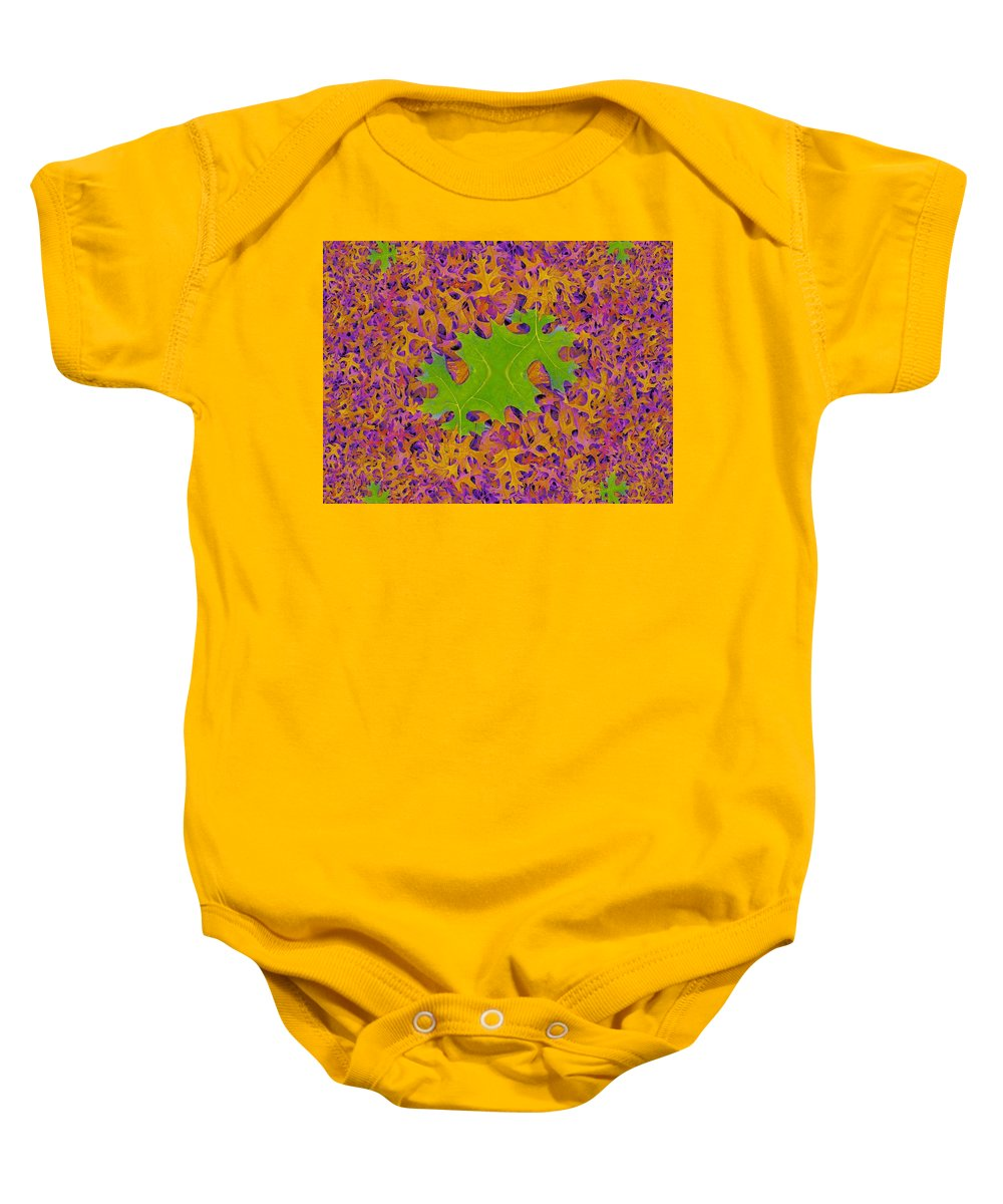Leaves Baby Onesie featuring the photograph Leaves In Fractal 2 by Tim Allen
