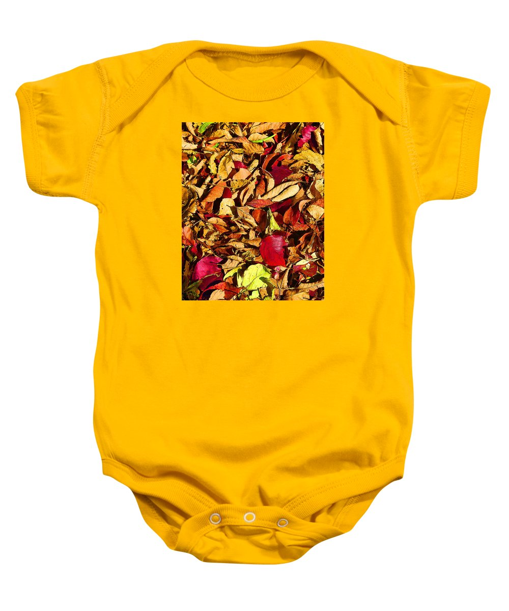 Nature Baby Onesie featuring the photograph Leaves Of Autumn by David Wimsatt