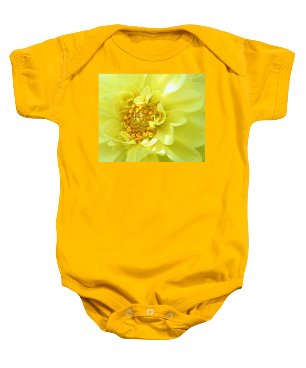 Flowers Baby Onesie featuring the photograph Lemon Dream by Lori Pessin Lafargue