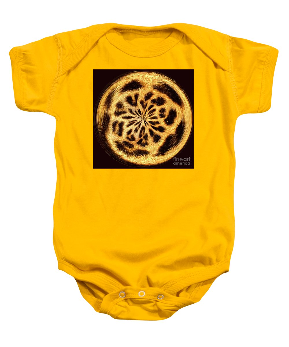 Africa Baby Onesie featuring the digital art Leopard Skin by George Cathcart