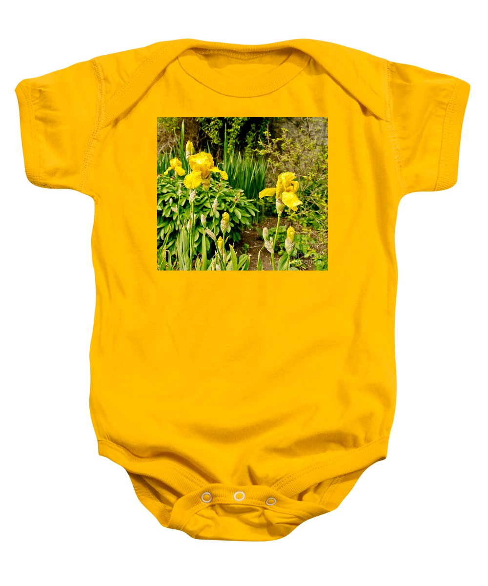 Iris Baby Onesie featuring the photograph Let's Dance. Yellow. by Elena Perelman