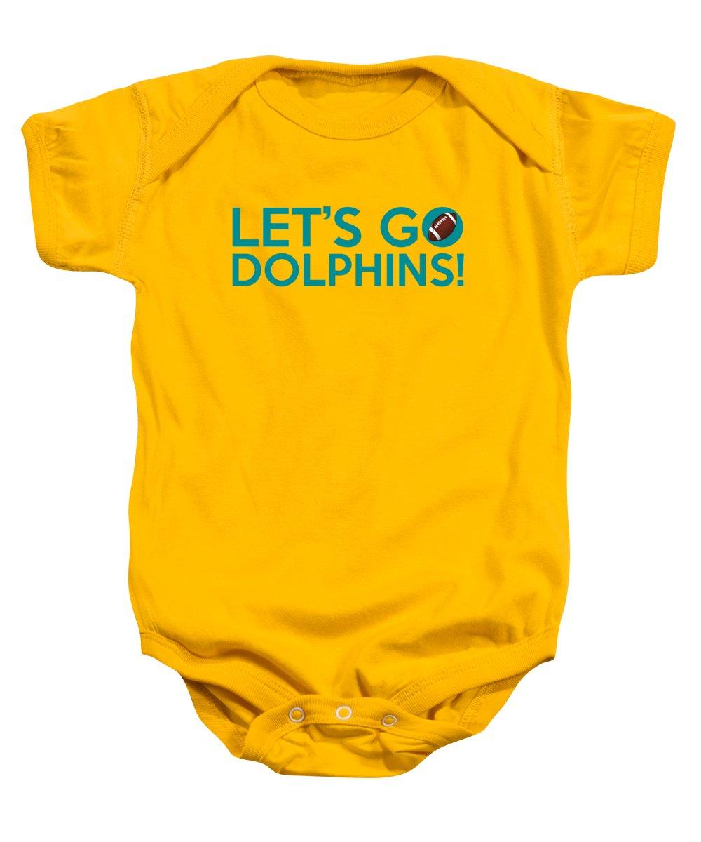 designer fashion 44f65 182e8 Let's Go Dolphins Baby Onesie