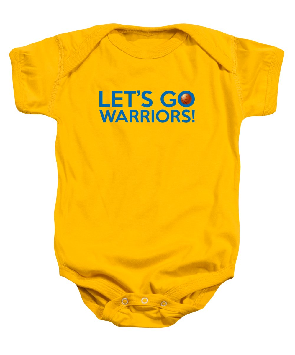 a7812ba664741 Golden State Warriors Baby Onesie featuring the painting Let s Go Warriors  by Florian Rodarte