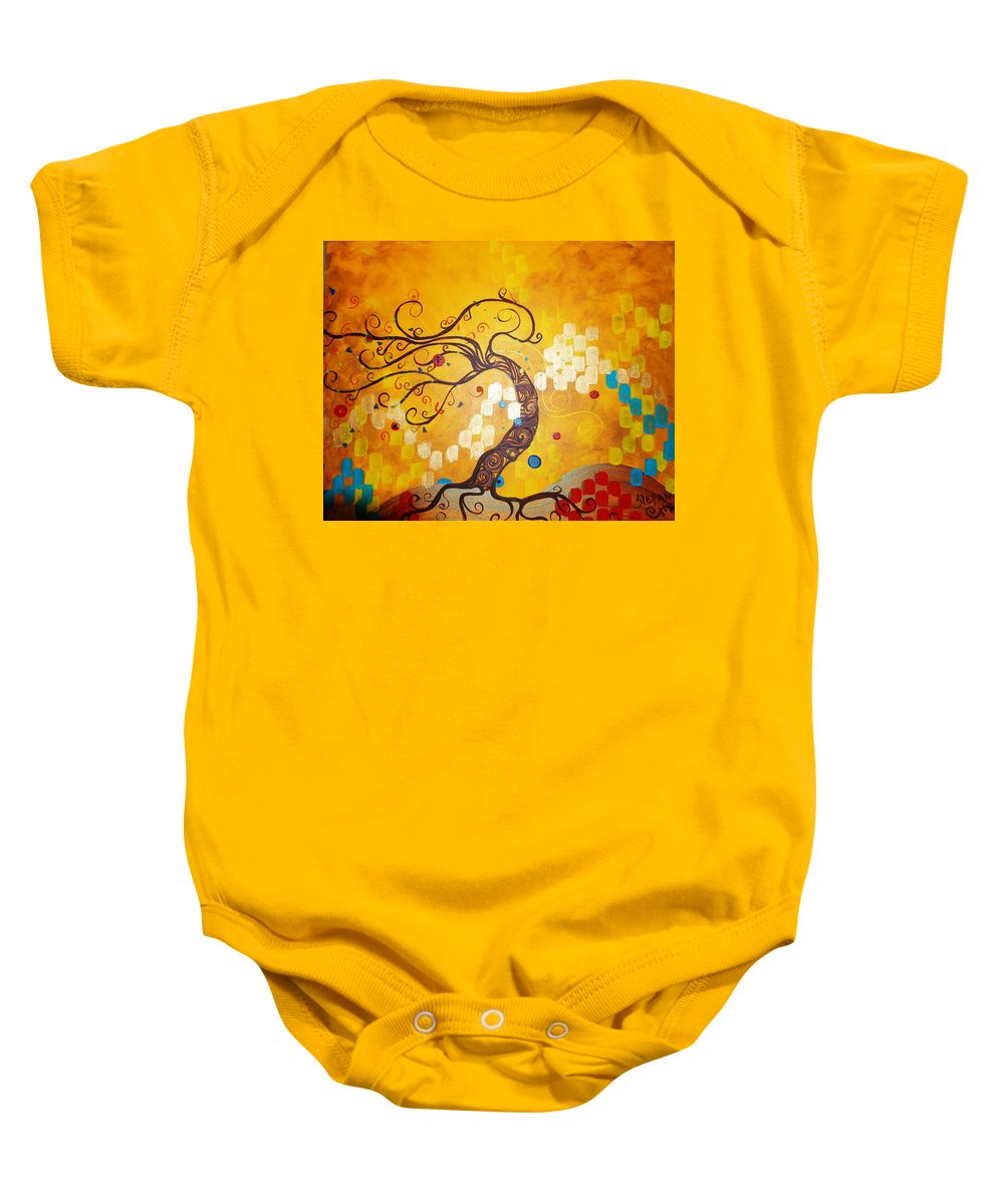 Baby Onesie featuring the painting Life Is A Ball by Stefan Duncan