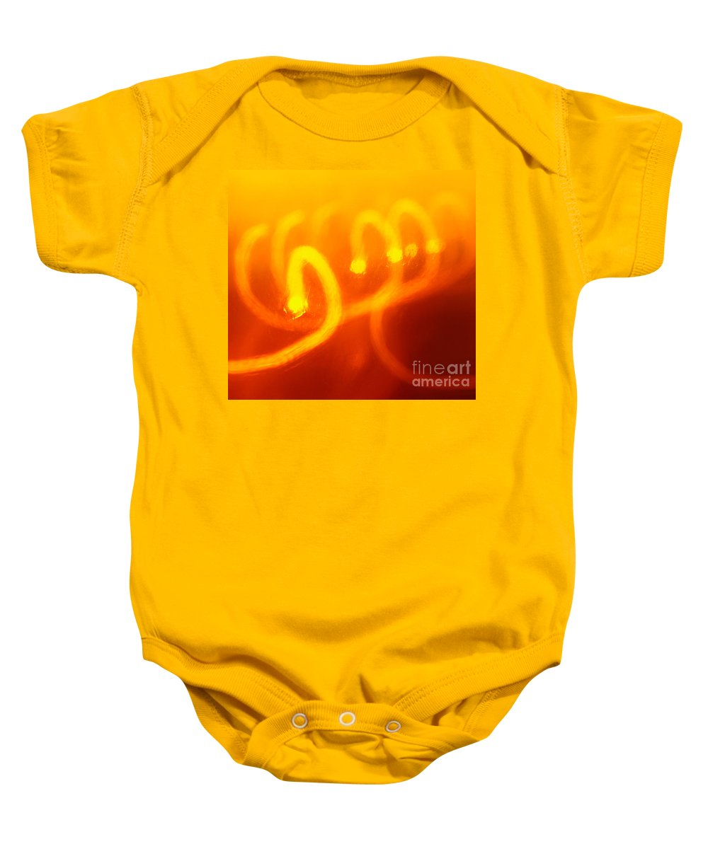 Abstract Baby Onesie featuring the photograph Light Trail Abstract by Gaspar Avila