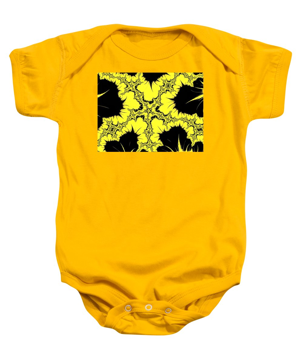 Abstract Baby Onesie featuring the photograph Lightning - Abstract by Barbara Zahno