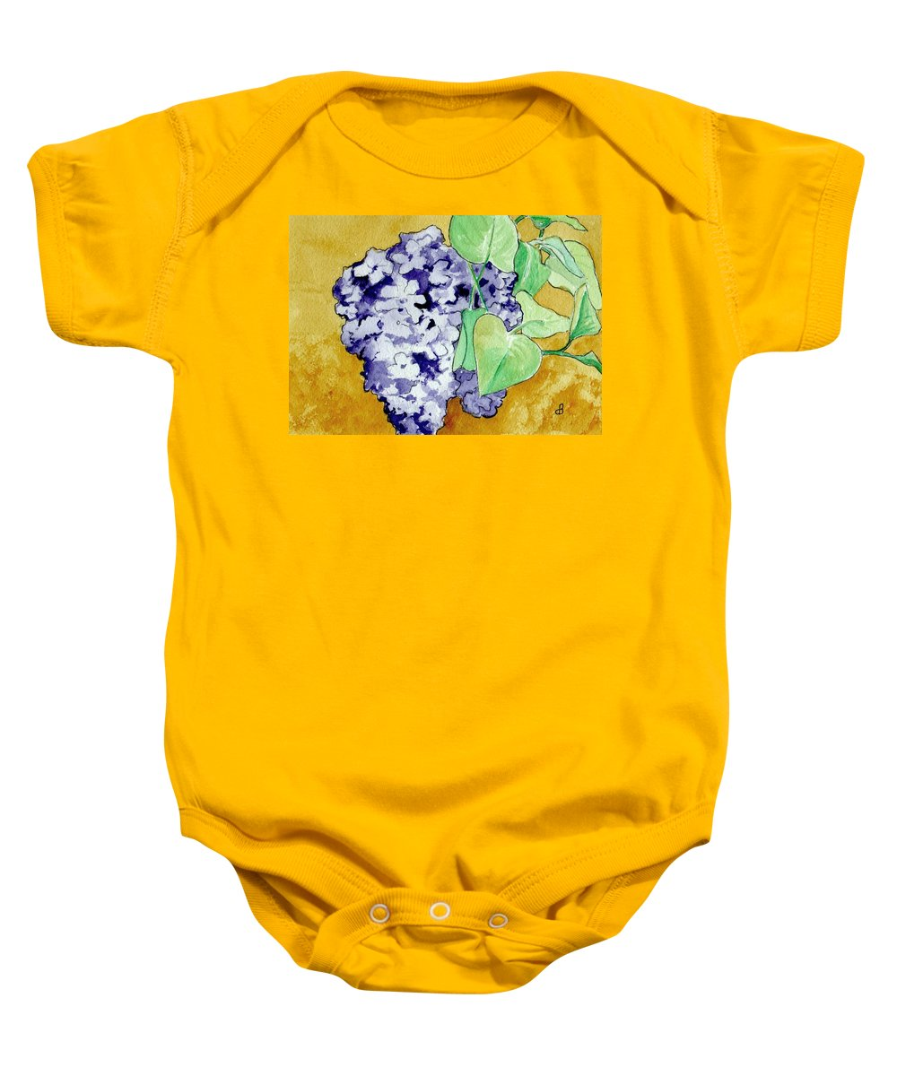 Watercolor Baby Onesie featuring the painting Lilacs by Brenda Owen