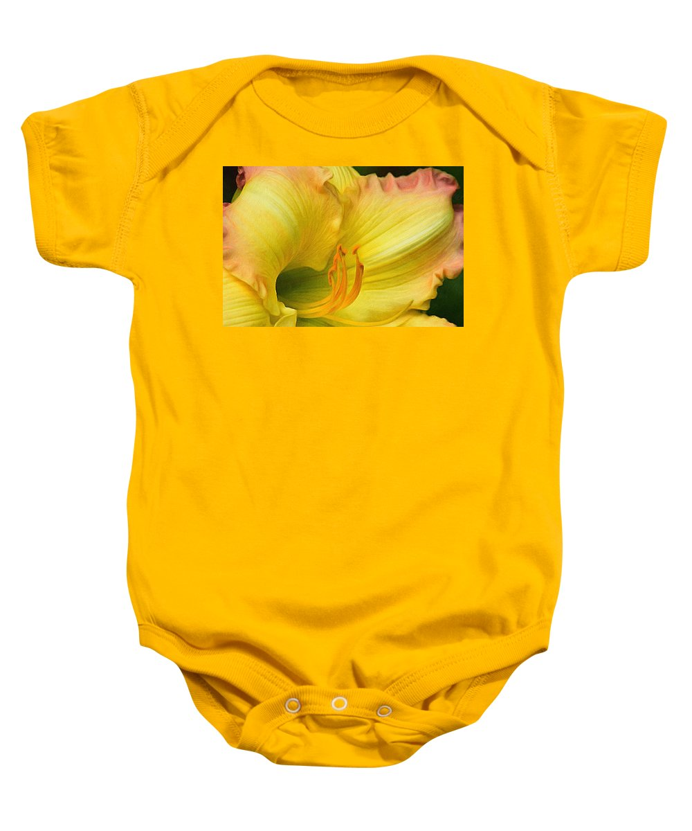 Brushstroke Baby Onesie featuring the photograph Lilied Curves by Gregory Strong