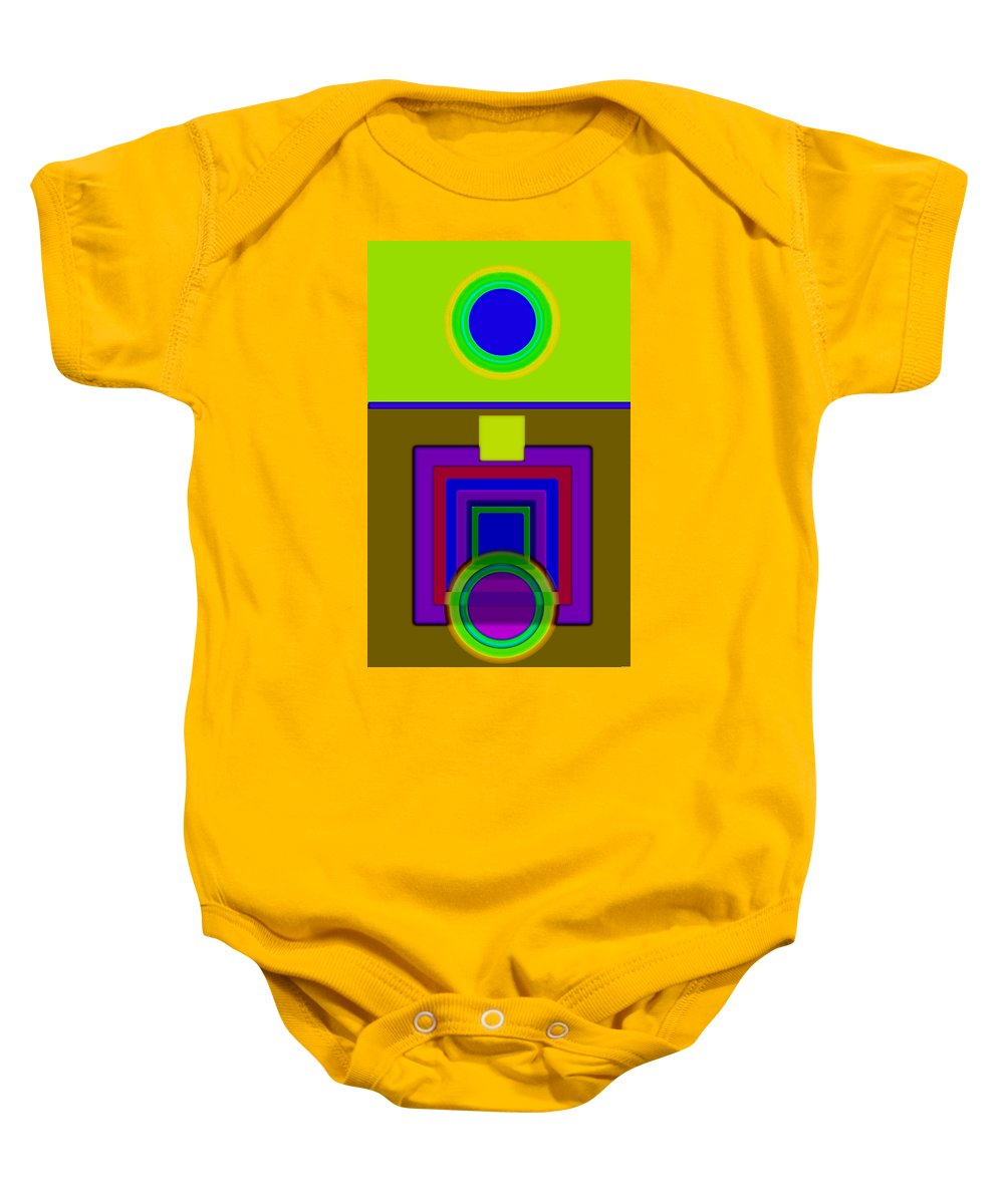 Classical Baby Onesie featuring the painting Lime Driver by Charles Stuart