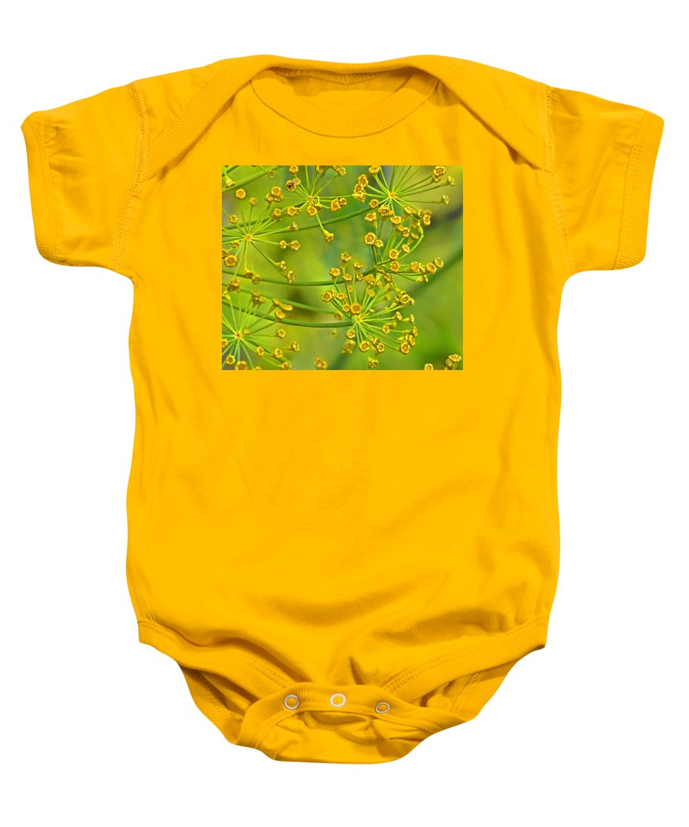 Flowers Baby Onesie featuring the photograph Lime Green by Ian MacDonald