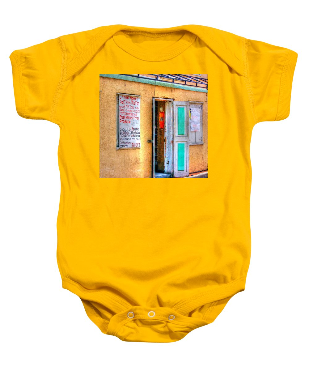 Store Baby Onesie featuring the photograph Local Store by Debbi Granruth