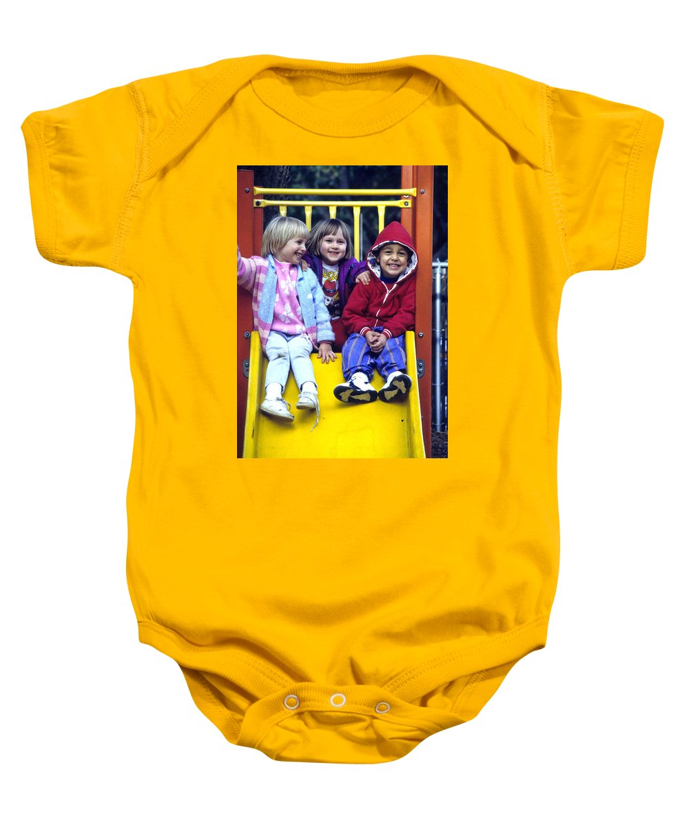 Girl Baby Onesie featuring the photograph Love Thy Neighbor by Laurie Paci